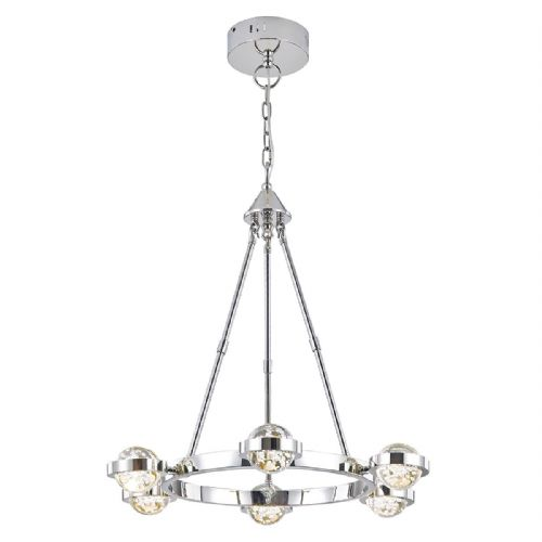 LIVIA 6LT PENDANT Polished Chrome LED (Class 2 Double Insulated) BXLIV0650-17